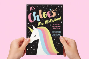 Invitation - Unicorn Party