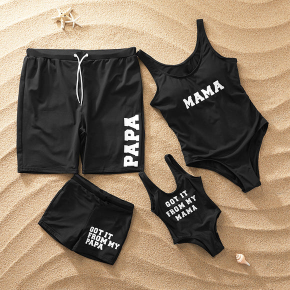 104c7cb72c Family Matching Swimwear Outfits Look Mother Daughter Bikini Swimsuits  Father Son Swim Shorts Mommy Dad and