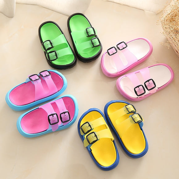 df9c3af78 Slippers Kids for Girls Beach Sandals Summer Baby Slippers Boys Flat House  Flip Flop Children Non