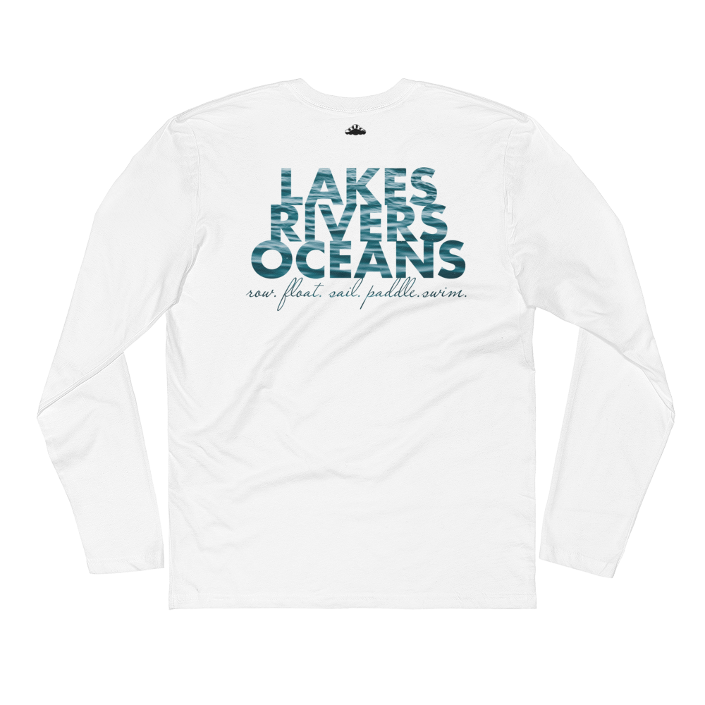 Water is Life Long Sleeve Fitted Crew