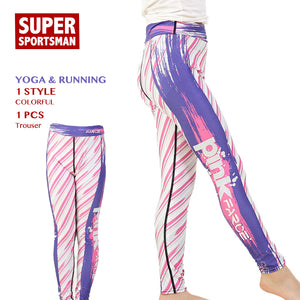 Kids Gym Leggings Running Yoga Pants Children Fitness High Waist Tights Baby Girls Training Sportswear Athletic Sports Clothes-Fashion3K