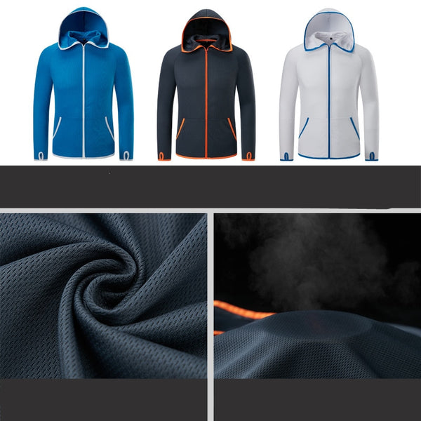 Fishing Men Clothes Tech Hydrophobic Clothing Brand Listing Casual kleding Outdoor Camping Hooded Jackets Ice silk Waterproof-Fashion3K