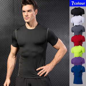 Quick Dry Compression Mens Sport Running Fitness Soccer Basketball Gym Tshirts Fashion3K