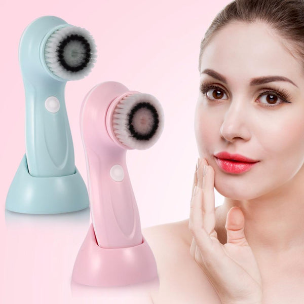 USB Rechargeable Electric Wash Brush Face Spa Cleaner Rotating Pore Blackhead Acne Remover Deep Cleansing Soft Massager Brushes-Fashion3K