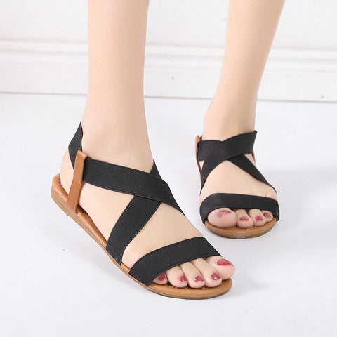 Gladiator Sandals Summer Sandals Women Casual Shoes Female Women Flat Rome Feminina Sandals Soft Bottom Sandalia Fashion3K