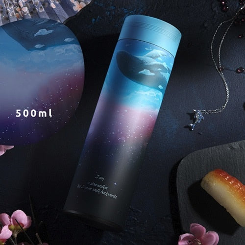 500ML Thermos Bottle 304 Stainless Steel Vacuum Flask Insulated with Infuser Fashion3K