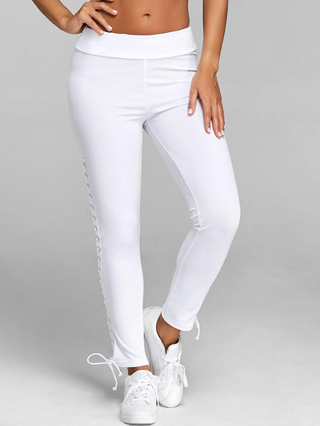 Lace Up Leggings with Grommet-Fashion3K