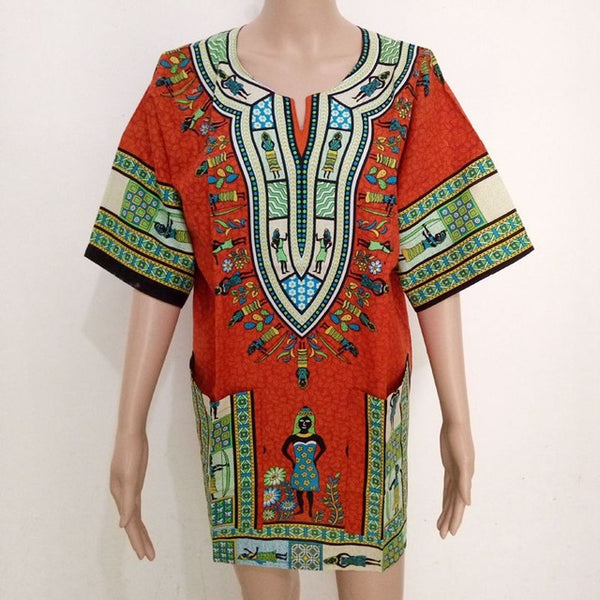 Women Dashiki Men African Clothes Hippie Shirt-Fashion3K