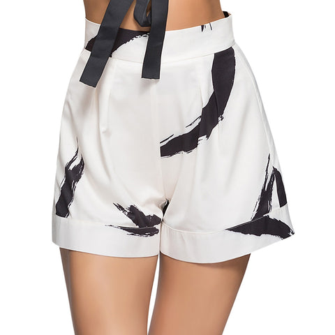 Girls High Waist Printed Zipper Loose Women Spring Summer Shorts-Fashion3K