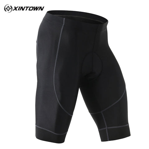 Mens Sports Compression Pants Stretch Tight Padded Cycling Gym Workout Fitness Shorts-Fashion3K