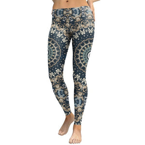 Mandala Flower Printed Legging For Women-Fashion3K