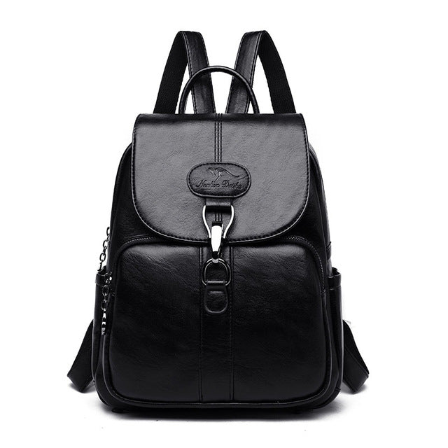 Multifunctional Women Leather Backpack! Buy Now!-Fashion3K