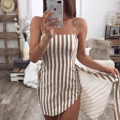 Women Sexy Casual Summer Mini Dress-Fashion3K