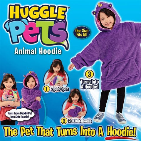 Huggle Hoodie Blanket Kids A Pet Dinosaur Turns into Hooded Sweatshirt Fashion3K