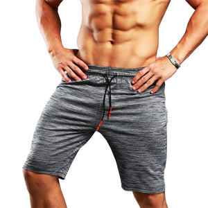 Mens Gym Shorts Quick Dry Sport Running Shorts Men Crossfit Compression Short Pants Jogging Shorts Camo Gray Sweatpants-Fashion3K