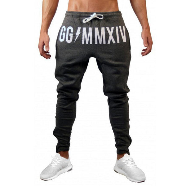 Mens Cotton Sweatpants Gyms Pant Fitness trousers Joggers Workout Pencil Pants-Fashion3K
