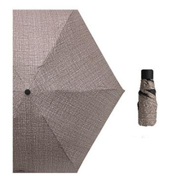 Five-folding Womens Mini Pocket Rain Sun UV Protective Umbrella-Fashion3K