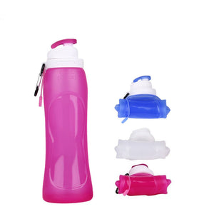 500ML Foldable Silicone School College Work BPA Free Drinking Water Bottles Fashion3K