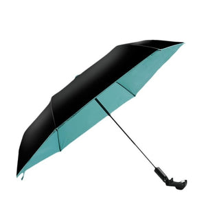 Wireless Bluetooth Selfie Tri-Folding Umbrella - Ultra-light Anti-UV Vinyl Folding Small Black Umbrella - Ultra-light Sunscreen-Fashion3K