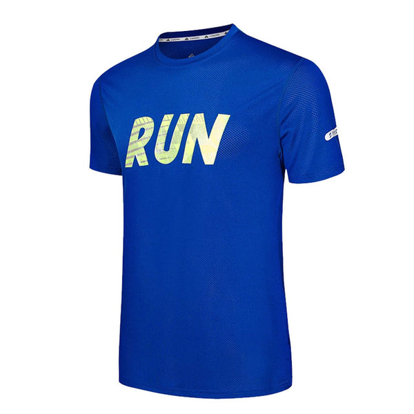 Men's Sportswear Active Running T Shirts Short Sleeves Quick Dry Training Tee Fashion3K