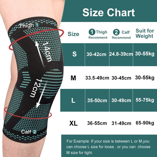 1PCS SKDK Elastic Knee Pad Sports Fitness Kneepad Gym Gear Patella Running Basketball Volleyball Tennis Knee Brace Support-Fashion3K