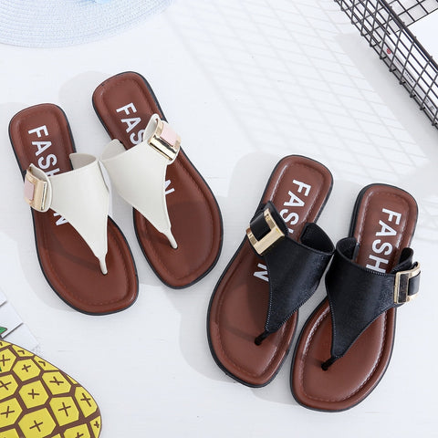 Women Slippers Summer Beach Slippers 2018 Casual Beach Women Slipper Flip Flops Sandals Summer Home Flat Flip Flops Shoes Fashion3K