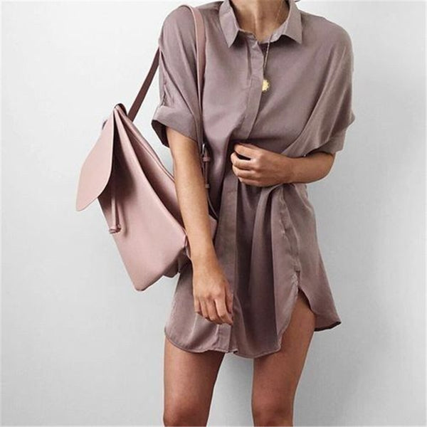 Short Sleeve Maternity V-neck chiffon blouse Casual Summer Fashion Loose Tops-Fashion3K