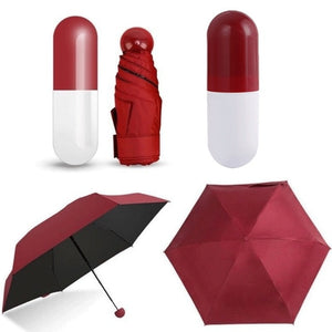 Mini Folding Capsule Small Rain Umbrella Pill Package Box Anti-UV-Fashion3K