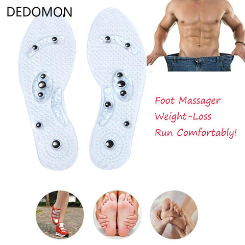 1Pair Shoe Gel Insoles Feet Magnetic Therapy Health Care for Men Comfort Pads Foot Care Relaxation-Fashion3K