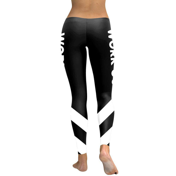 New Striped High Waist Leggings for Women with Digital Print-Fashion3K