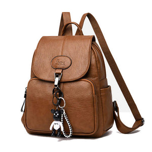 Soft PU Leather Vintage Ladies Backpack-Fashion3K
