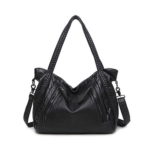 Trendy Womens Soft Leather Crossbody Hobos Shoulder Tote Handbag-Fashion3K