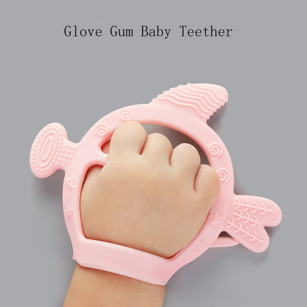 New Teething Glove Silicone Baby Nursing Teether Pacifier Newborn Dental Care Durable Child Sucking Fingers Thumb Teether-Fashion3K