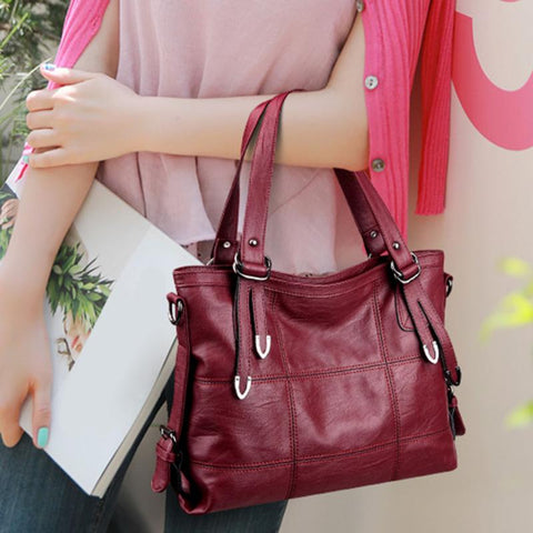 Fashionable Women PU Leather Office Shoulder Handbags Discounted Price-Fashion3K