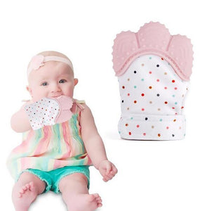 Baby Silicone Mitts Teething Mitten Glove-Fashion3K