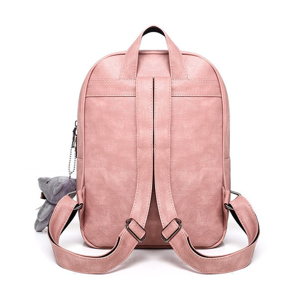 Trendy College School Teenage Girls Purse Backpacks Women Cute 4 Sets Bags Fashion3K