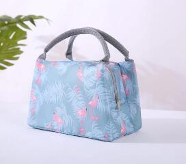 Pretty Lunch Bags Women Girls Portable Functional Canvas Stripe Insulated Thermal Food Picnic Kids Cooler Lunch Box Bag Fashion3K