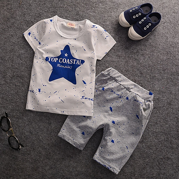 All Season Baby Boys Toddler Clothing Set short sleeved T-Shirts+Children Shorts Pants Fashion3K