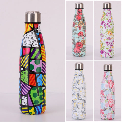 Stainless Steel Vacuum Insulated Water Bottle Flask Thermal Sports Chilly 500ML Fashion3K
