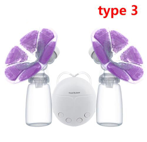 Single/Double Electric Breast Pump With Milk Bottle-Fashion3K