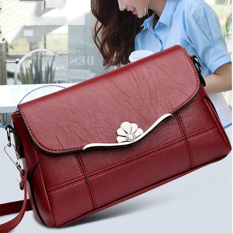 Women Designer Fashion PU Leather Crossbody Shoulder Handbag Purse-Fashion3K