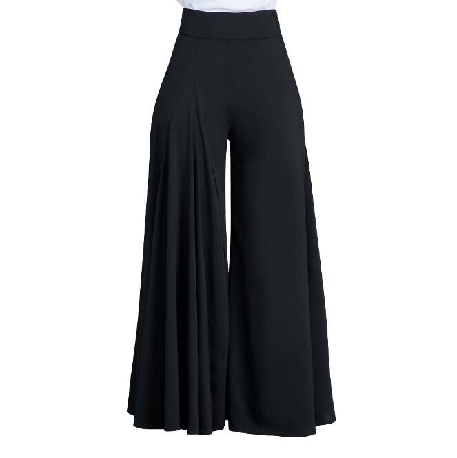 Womens Loose Stretch High Waist Palazzo Trouser-Fashion3K