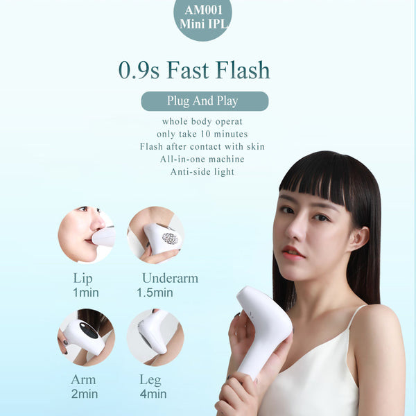 Laser Hair Removal Instrument Lip Axillary Private Pubic Hair Shaver Photon Permanent Household Ice Point Hair Removal Device-Fashion3K