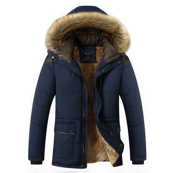 Winter Coat Plus Size Men Jacket Warm Overcoat Outwear Cotton Hooded Down Coat-Fashion3K