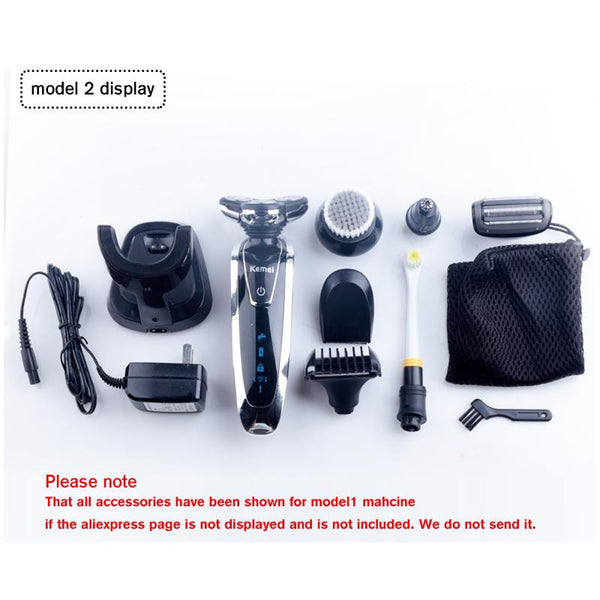 Kemei 7 in 1 Electric rechargeable Shaver-Fashion3K