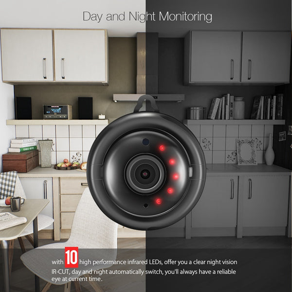 WIFI Night Vision Two-way Security Camera with Motion Detection Alarm-Fashion3K
