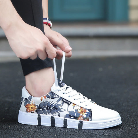 Floral Print Fashionable Girls Women Comfy Canvas Sneaker Shoes Fashion3K