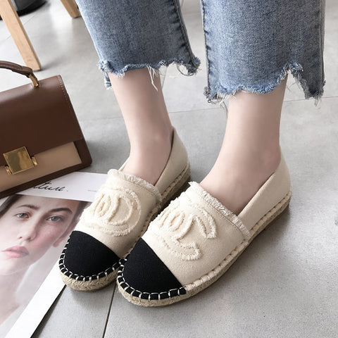 Women Shoes Fisherman Shoes Canvas Slip-on Casual Loafers Flats Comfortable Casual Mules Fashion3K