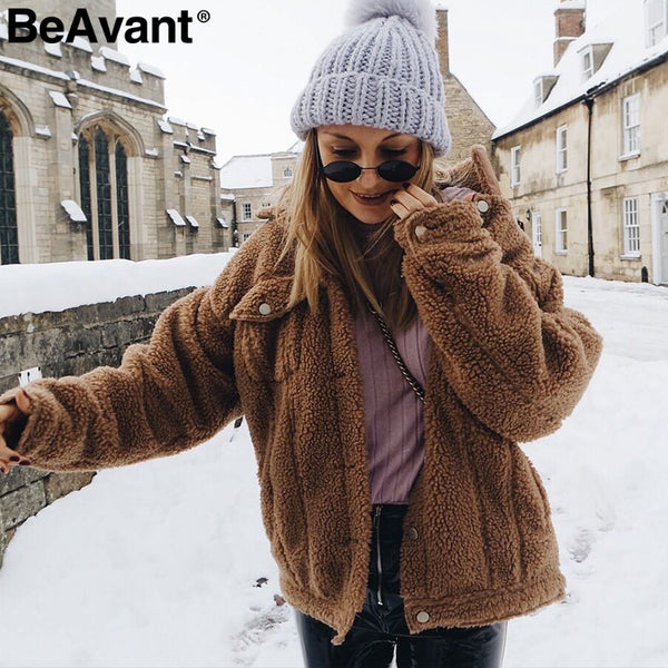 Trendy Women Winter Lamb Fur Coat ! ON SALE-Fashion3K