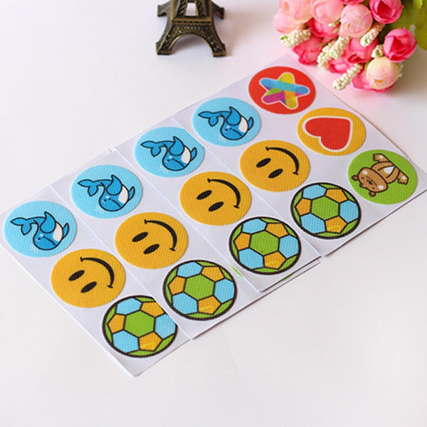 120 Pcs Mosquito Repellent Patches Stickers Football Shape Cartoon Pattern Safe Long-lasting Anti-mosquito Paste Sticker-Fashion3K